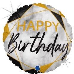 "Print of ""Happy Birthday"" on 18"" Foil Balloon"