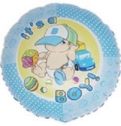 "Print of ""It's a Boy"" on 18"" on Foil Balloon"