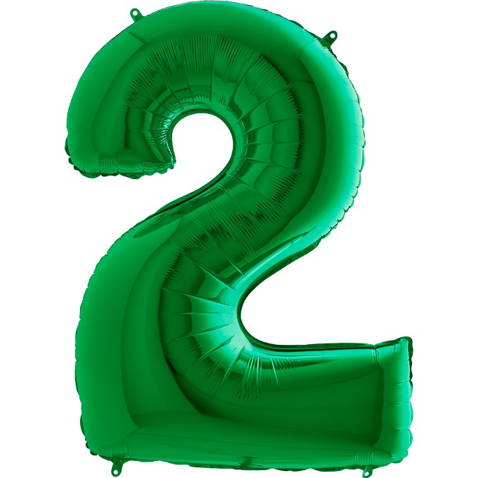 arge Number Two Balloon Green
