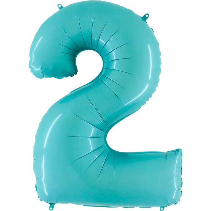 arge Number Two Balloon Light Blue