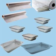 Serving trays paper towels, foils and many other items to make your catering event easier