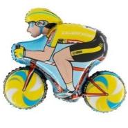 Foil Balloon Shape Cyclist
