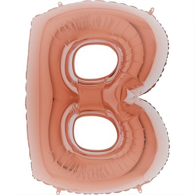 Balloon Super Letter B Rose Gold