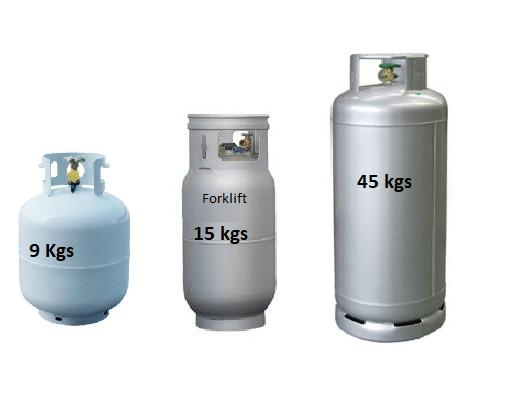 LPG Gas 9, 15, 45 Kg